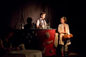 """Projekt """"SpielRaumTheater"""": Bühnenbild der Theatergruppe ¡ex it!"""