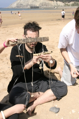 Land Art-Workshop beim internationalen Projekt in Gorliz (Spanien)