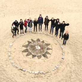 Land Art-Workshop beim internationalen Projekt in Gorliz (Spanien)