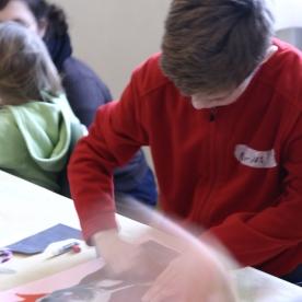Ferienworkshop im Schloss Caputh - Teil 1: Collagen