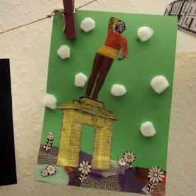 Postkarten-Workshop beim Nachbarschaftstreffen in Potsdam